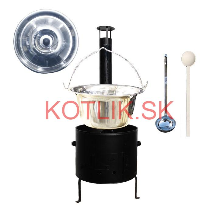 Kotlíkový set 36 Smalt party + antikorový kotlík 15 L.(1,2 mm)
